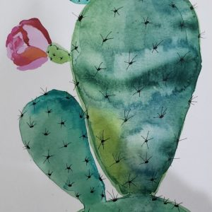 Watercolor Painting – Cactus