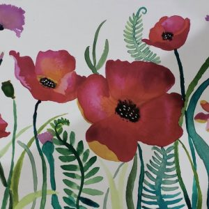 Water Color Painting – Poppies