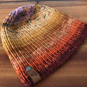 Orange/Yellow Ribbed hat