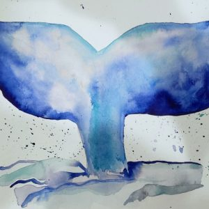 Watercolor Painting – Whale