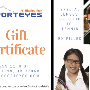 Gift Certificate to A Sight for Sport Eyes