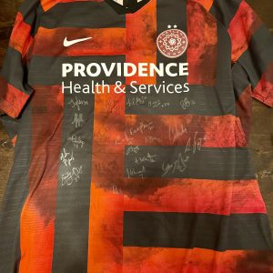 Soccer Jersey Signed by the Thorns – Women's Size Medium and Insulated Wine Cup