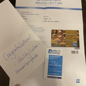 $50 American Express Gift Card from Ability Center